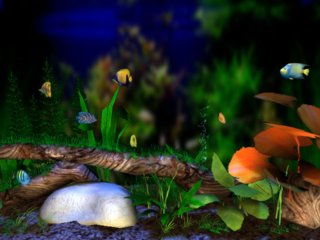 fish tank wallpaper. 3D Aquarium Screensaver - 3D