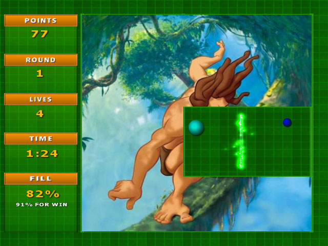 Screenshot of Jezzball Deluxe