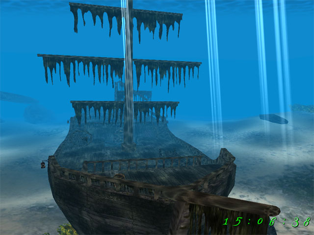 Dive into the depths and visit a sunken ship in the Caribbean. Screen Shot