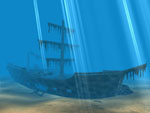 caribbean pirates 3D screensaver